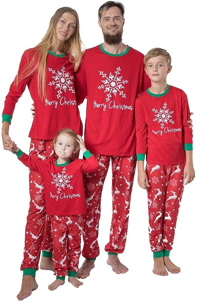 K-Youth Ropa para Padres e Hijos Pijamas de Navidad Familiar ...
