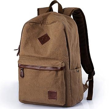 CKH Trend Mochilas Bolsas de viaje casual para hombres Mochilas de lona Bolsas universitarias para colegios universitarios (Color : Brown): Amazon.es: ...