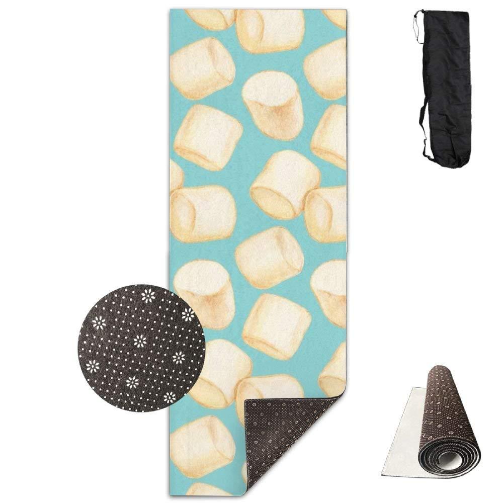 Marshmallows Blue,Yoga Towel Exercise Mat Non-Slip High Density Waterproof Yoga Mats Fitness