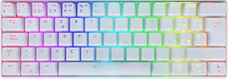 Newskill Pyros Ivory Teclado Mecánico Gaming RGB Ultra ...