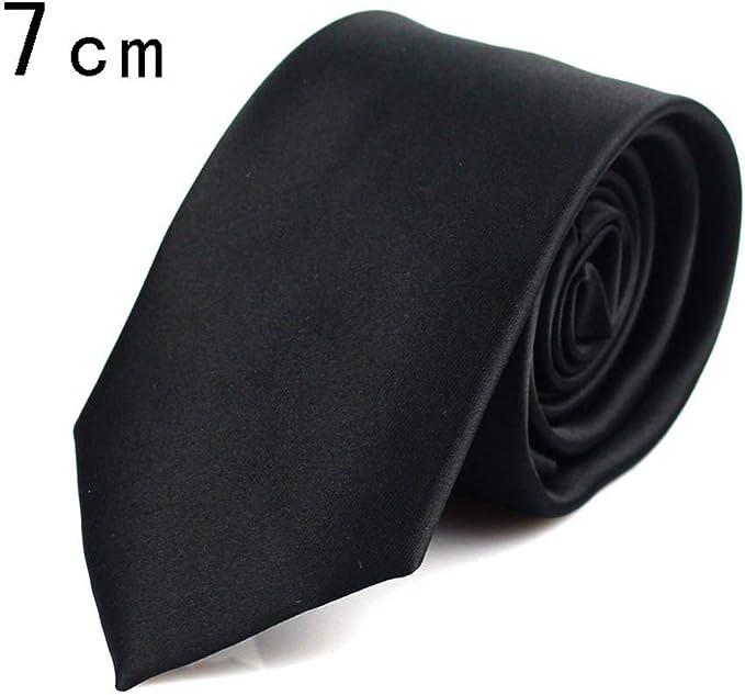 Corbata negra para hombre de los hombres corbatas de seda para el ...