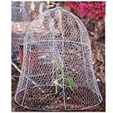 chickentree 4 Pack 14 Inches Wire Cloche for Plants Metal Squirrel Proof Plant Cover Animal Protection Metal Plant Protector Dome Bunny Fence