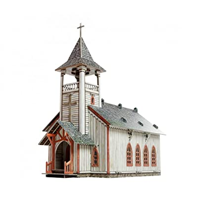 UMBUM Innovative 3D-Puzzles - The Church - Wild West Series by Clever Paper (461): Toys & Games