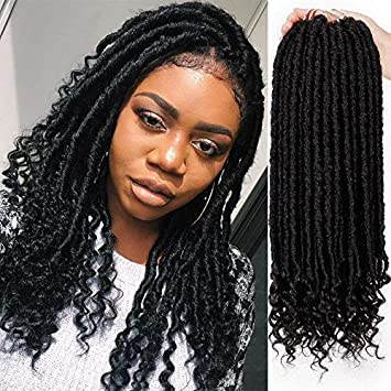 Amazoncom Aisi Beauty Straight Goddess Locs Crochet Hair Faux Locs