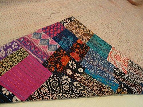 Tribal Asian Textiles Block Print Patch Work Kantha Quilt