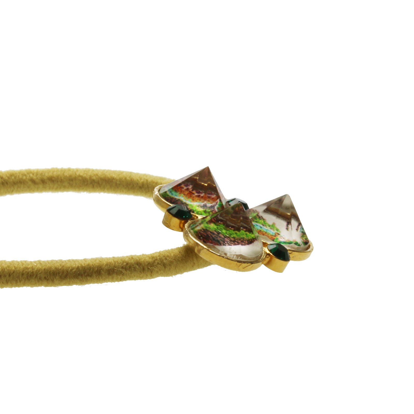 Tamarusan Ponytail Holder Small Size Pansy Yellow Green Unisex High-Grade by TAMARUSAN (Image #2)