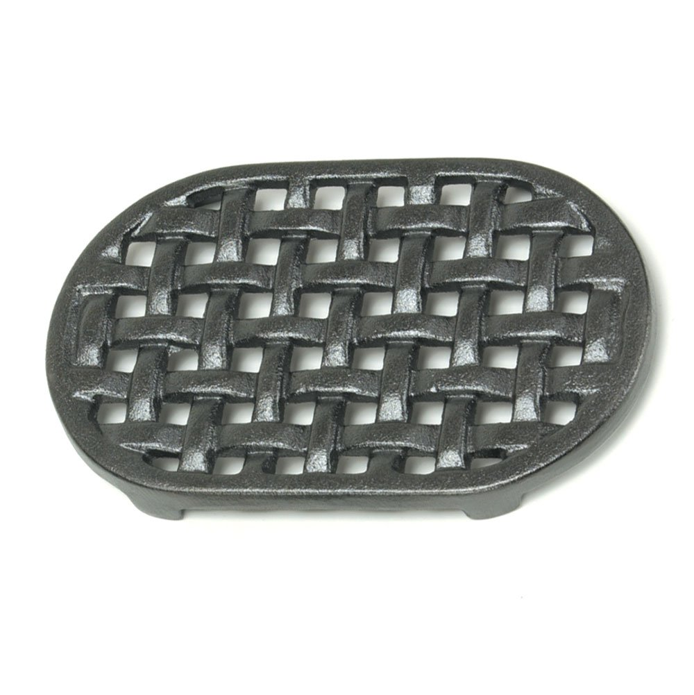 Minuteman International Cast Iron Oval Lattice Trivet by Minuteman International