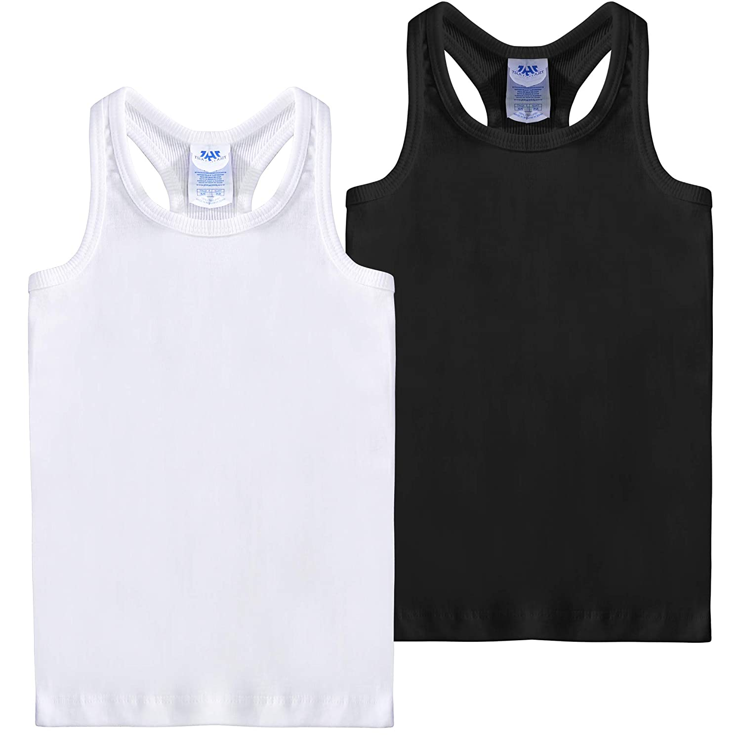 0ccbc936f7ce2c 100% Cotton Stay cool with this racer back tank top. Rib knit around arm  holes and neckline. Care Machine cold water wash