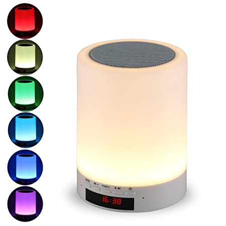 Review Night light bluetooth speaker,