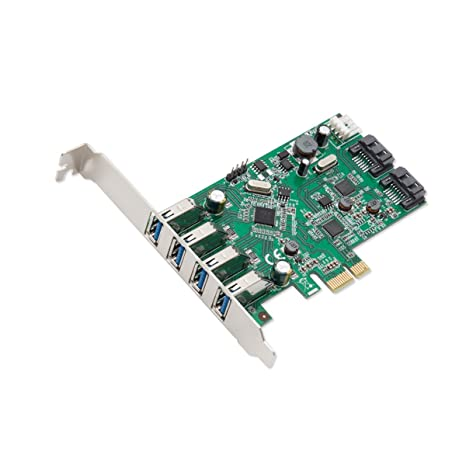 SYBA 6PORT 4XUSB 3.0 2XSATA III PCIE Tarjeta y Adaptador de ...