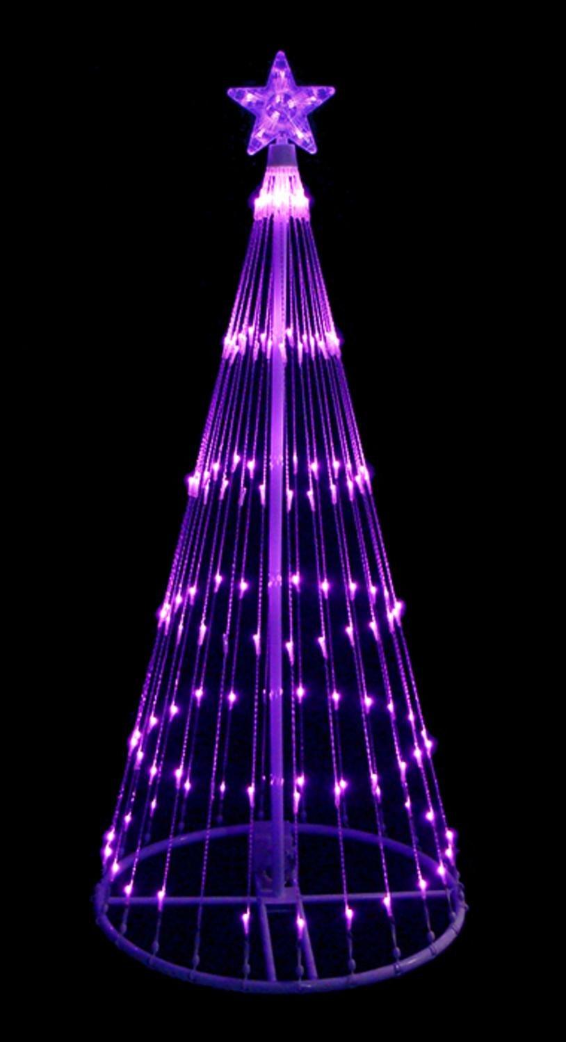Superior Amazon.com : 4u0027 Purple LED Light Show Cone Christmas Tree Lighted Yard Art  Decoration : Garden U0026 Outdoor