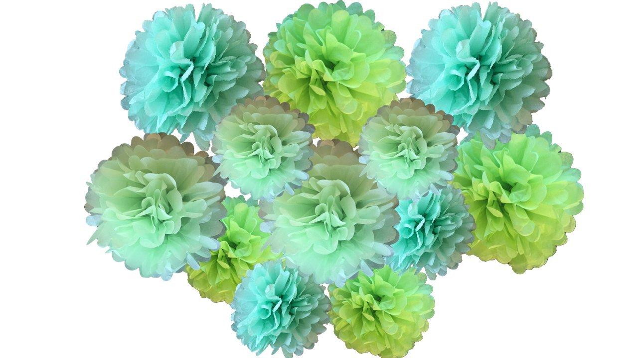 Sunshine Tissue Paper Pompom Pom Pom Hanging Flower Balls Garland Wedding Party Decorations 20cm 25cm Pack of 12 Mixed 8 /& 10