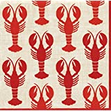 Caspari Entertaining Lobsters, Luncheon Napkin, Pack of 20