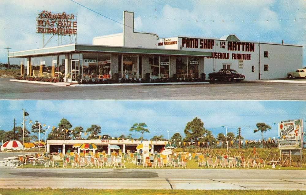 Little Ferry New Jersey Charles Wayside Furniture Vintage Postcard KK1076