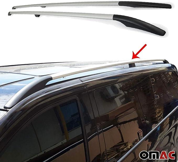 Omac Aluminium Silver Dachreling Dachgepäckträger Kompatibel Mit Mercedes Vito W639 W447 2003 2020 Mittle Radstand Relingträger Gepäckträger Fahrzeugspezifisch Auto