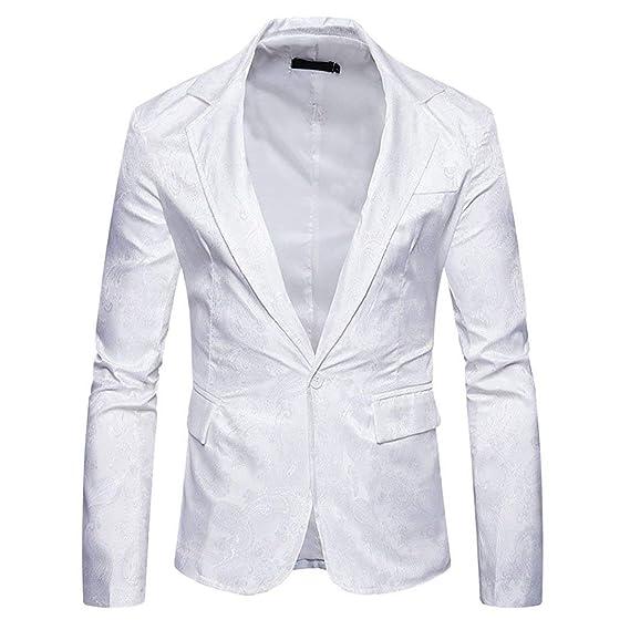 Veste De Costume De pour Loisirs Paisley Hommes Style Simple Élégant Un  Bouton Slim Fit Blazer 9451ea31701