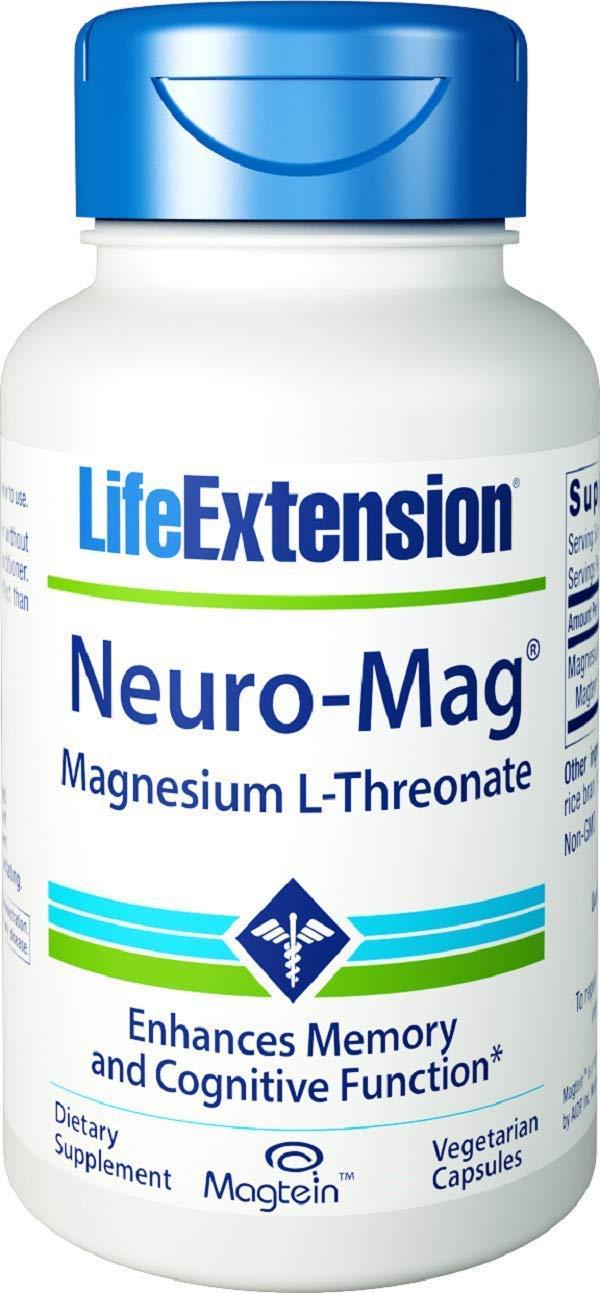 Life Extension Neuro-Mag Magnesium L-Threonate, 150 Veg Caps