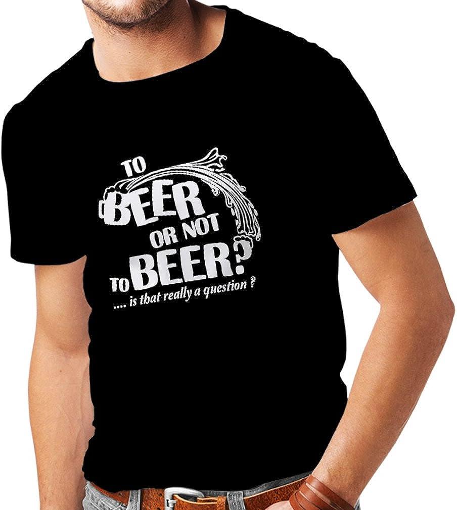 Chemise de Partie lepni.me T-Shirt pour Hommes /À la bi/ère ou Pas Slogan dr/ôle de bi/ère