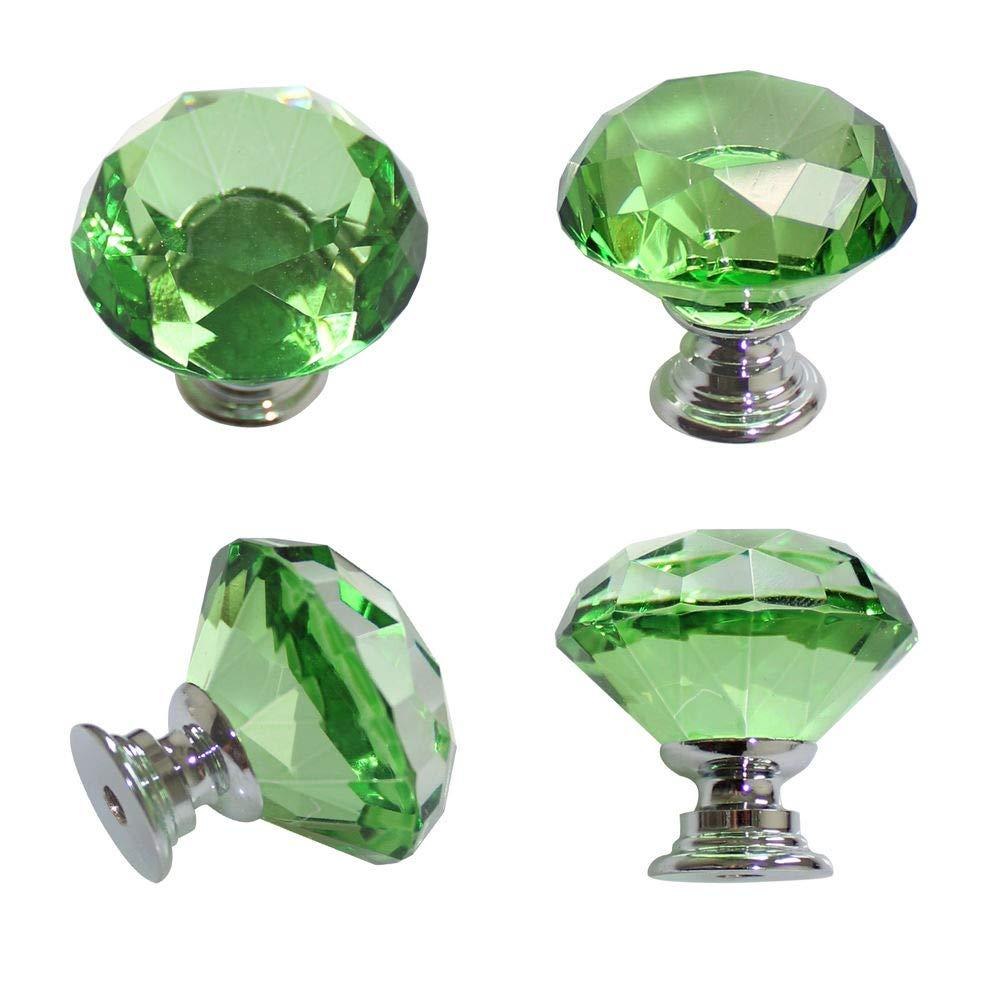 Maniglie porta Armadio a cristallo armadio armadio cassetto armadio Armadio 30 mm Manopola verde TOOGOO R
