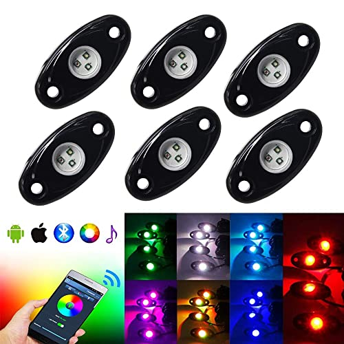 OPPULITE 6pods RGB Led Rock Lights Kit with Bluetooth
