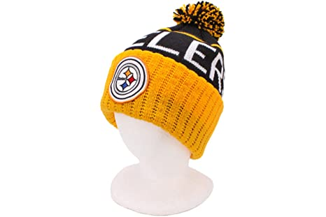 b2f73ebbfd6 Image Unavailable. Image not available for. Color  Pittsburgh Steelers  Vintage Cuffed Pom Knit Cap   Beanie