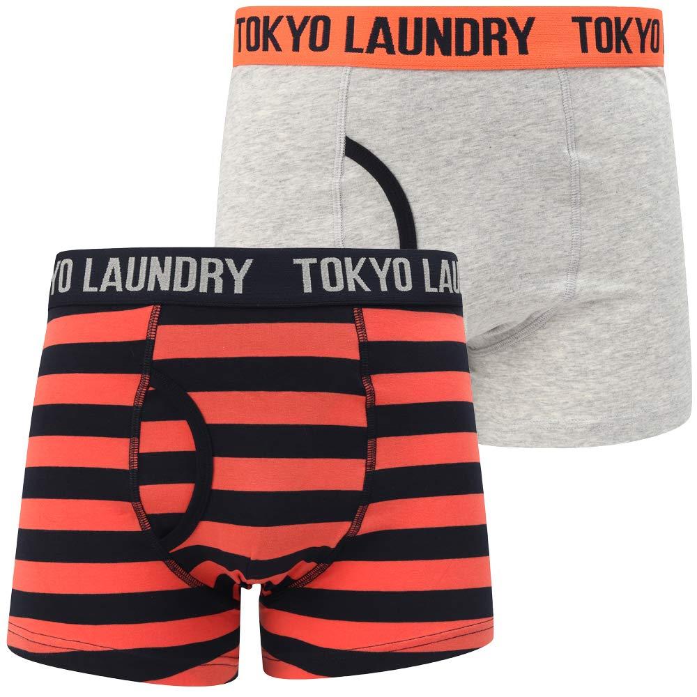 TALLA S. Tokyo Laundry - Bóxer para Hombre, diseño de Rayas