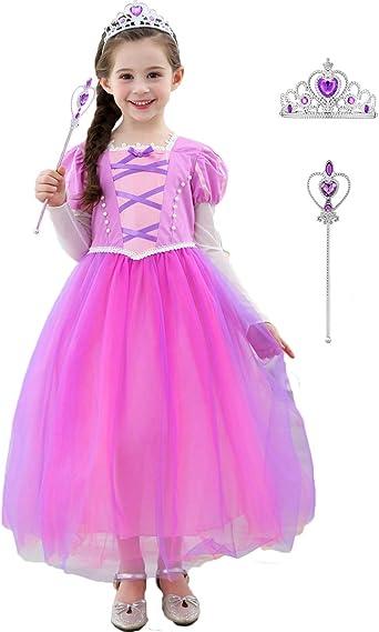 Kids Girls Princess Dress Fancy Costume Dress Up Party Fairytale Cosplay  Queen
