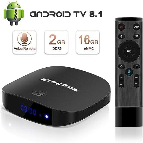 Kingbox K2 – Android 7.1 TV Box con Miniteclado inalámbrico, 2 GB de RAM, 16 GB de ROM, CPU Quad-Core, 64 bits, compatible con Wifi 2.4 G, BT4.0, Android 7.1, etc.: Amazon.es: Electrónica
