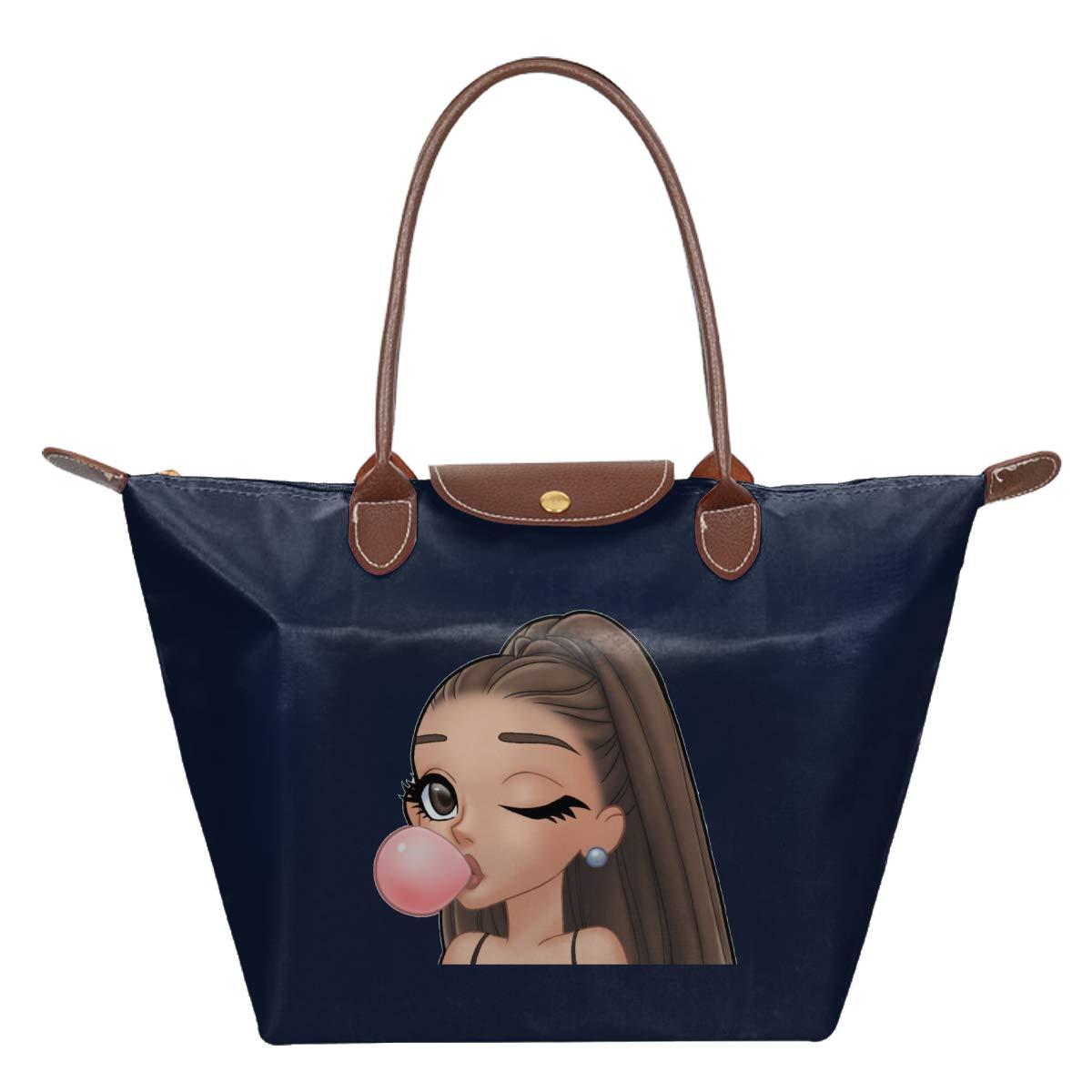 Ari-Ana Cute Gran-De Waterproof Leather Folded Messenger Nylon Bag Travel Tote Hopping Folding School Handbags