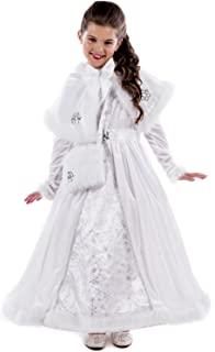 edff80ec7aa8 Girls Deluxe White Snow Queen Ice Winter Christmas Xmas World Book Day Week  Carnival Fancy Dress