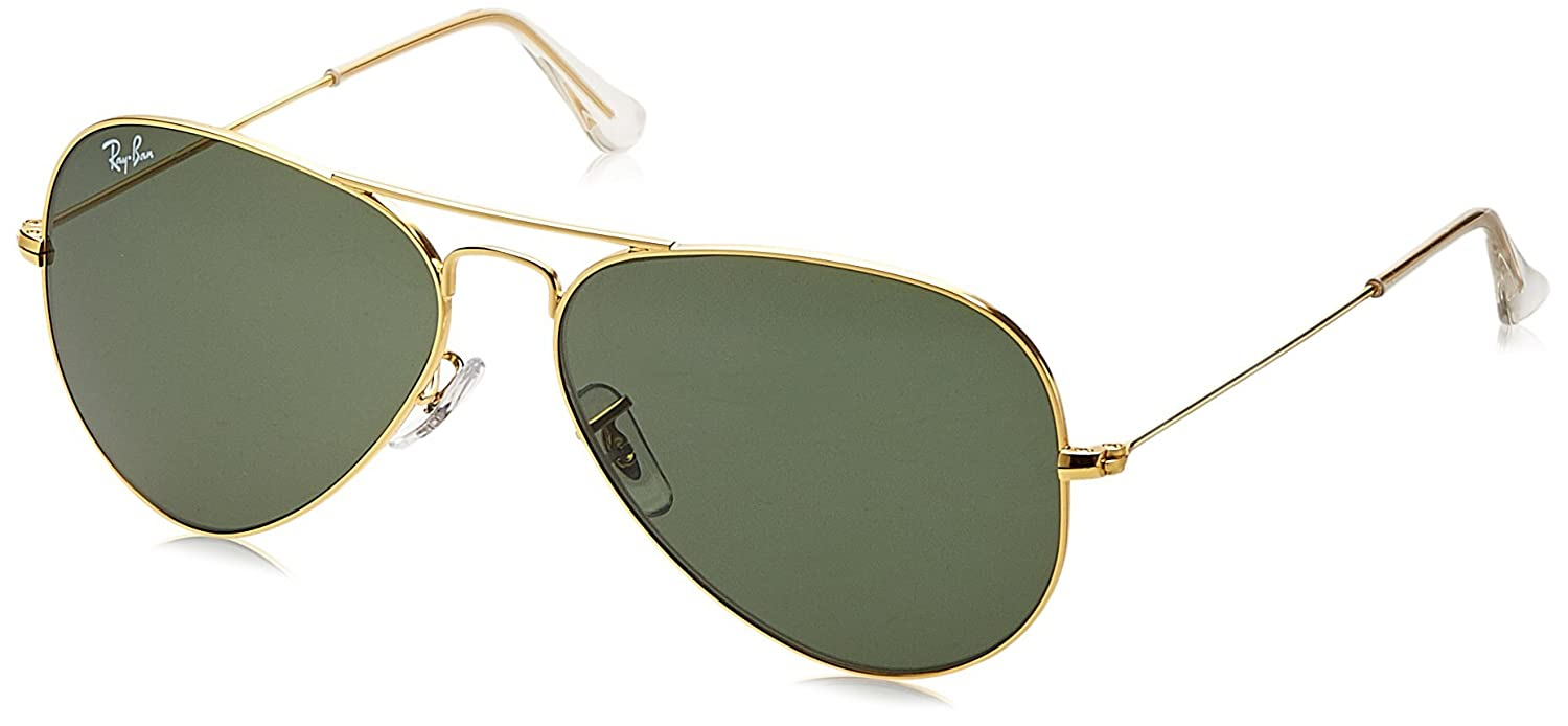 dd485047a67b8 Ray-Ban Aviator Sunglasses (Gold) RB3025 L0205 5814  Amazon.in  Clothing    Accessories