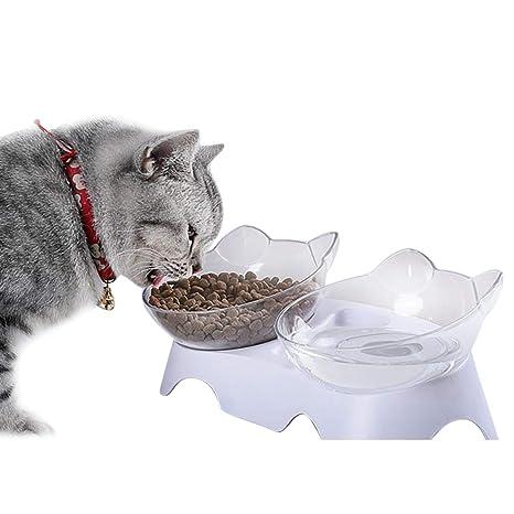 Legendog Tazón De Comida para Gatos Cuenco De Mascotas Protección ...