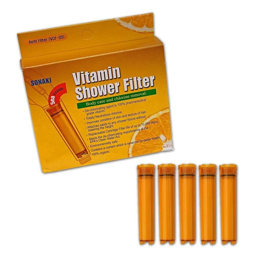 Vitamin C Shower Filter Cartridge - 5 Pack Vitamin C Filter Refills - Remove 99.9% of Chlorine and Chloramines chic