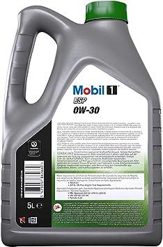 Aceite para motor Mobil 1 ESP 0W-30 Advance Fully Synthetic, 5 litros: Amazon.es: Coche y moto