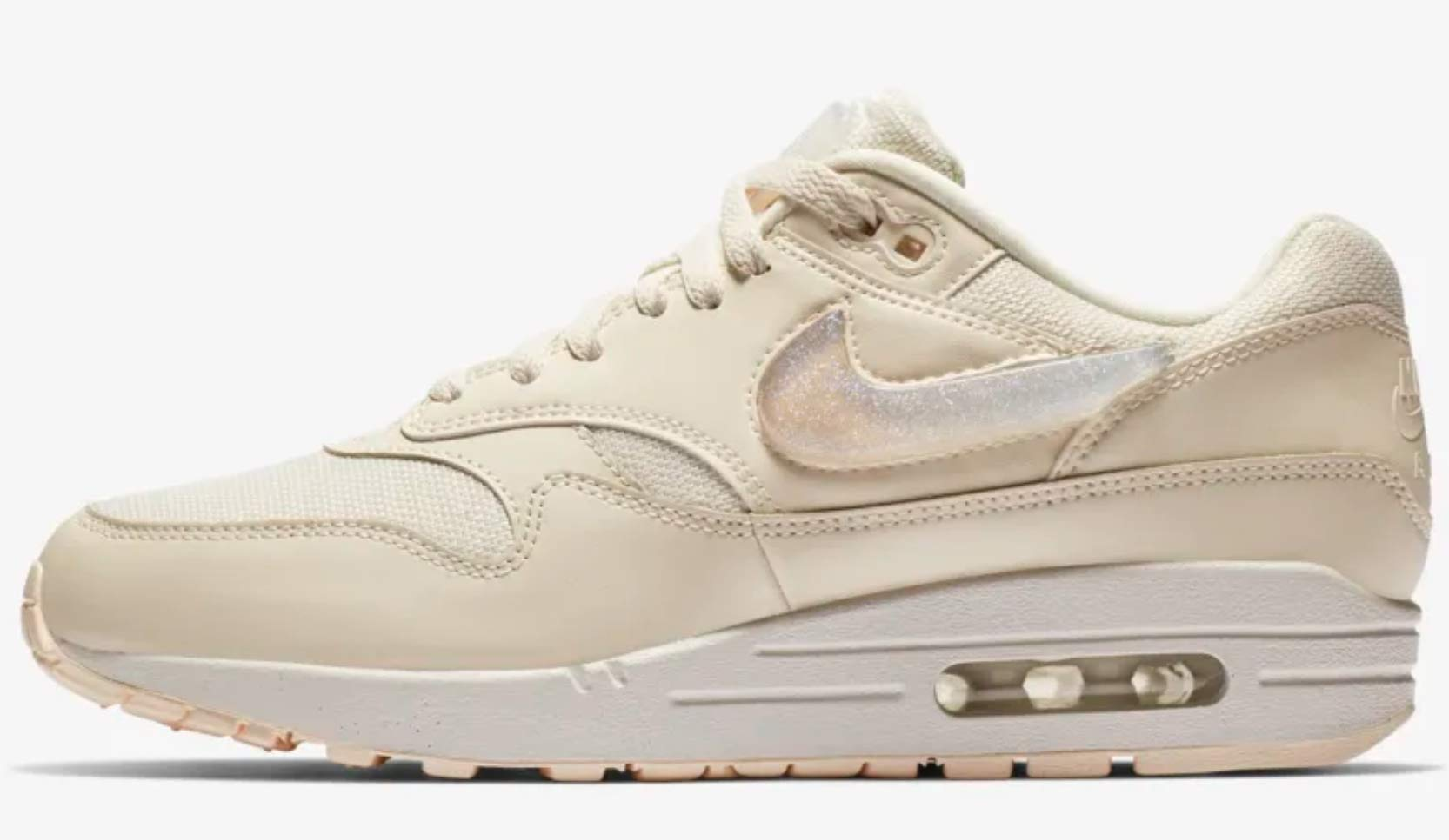 Nike Women's Air Max 1 JP White AT5248-100 (Size: 7.5)