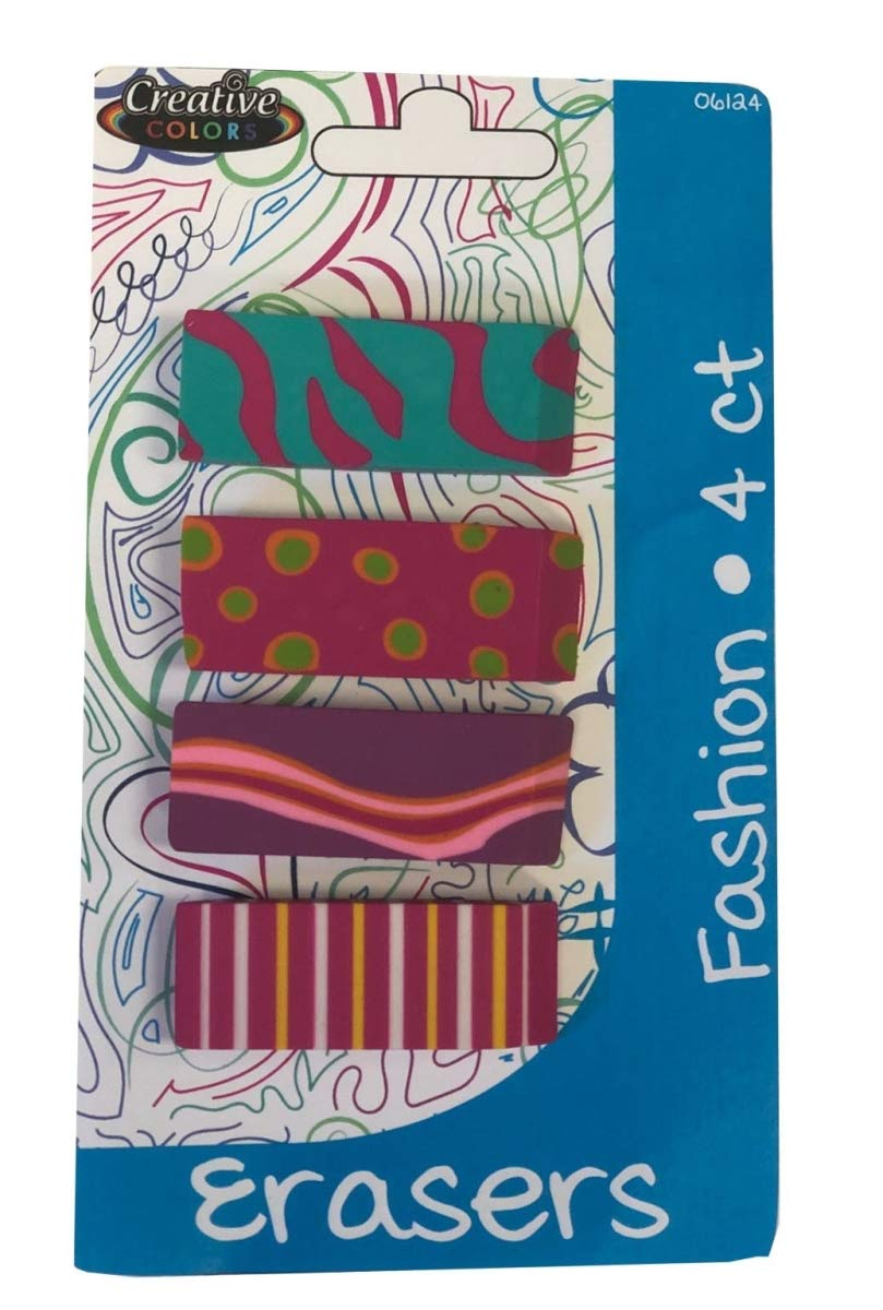 Creative Colors 2325620 DDI Fashion Erasers - Case of 24 by Creative Colors