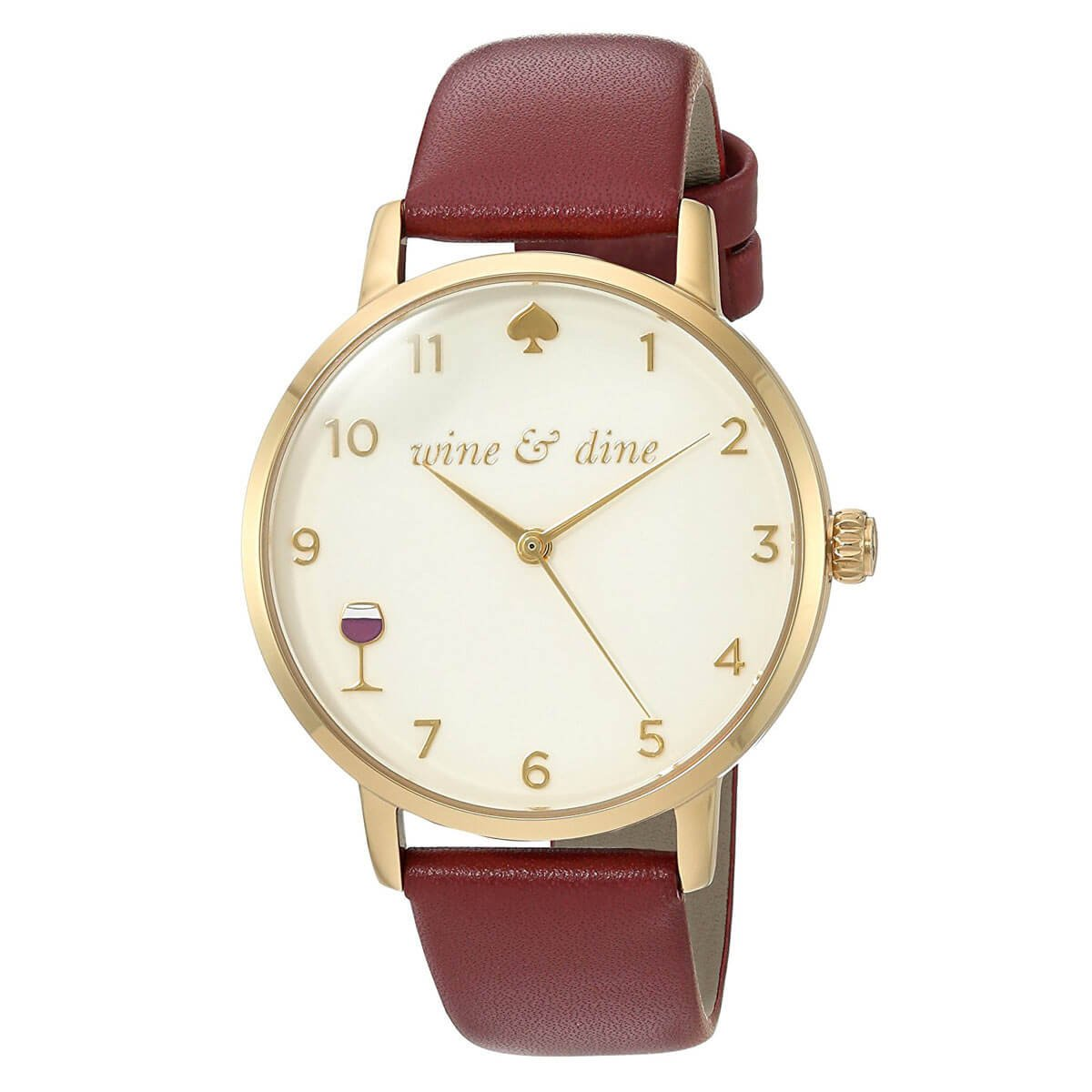 kate spade new york Women's 'Metro' Quartz Stainless Steel and Leather Casual Watch, Color:Red (Model: KSW1188)