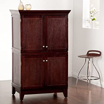 Bon Home Styles 5333 76 Home Office Computer Armoire, Coffee Finish