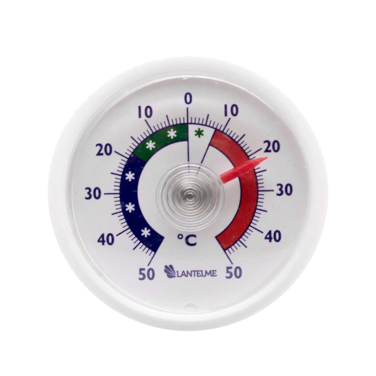 Adhesivo de termómetro analógico refrigerador redondo bimetálico. pantalla de temperatura termómetro frigorífico + / - 50 ° c Lantelme