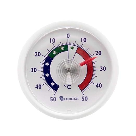 3 opinioni per Termometro analogico per frigorifero rotondo, adesivo e in 2 metalli, segnala