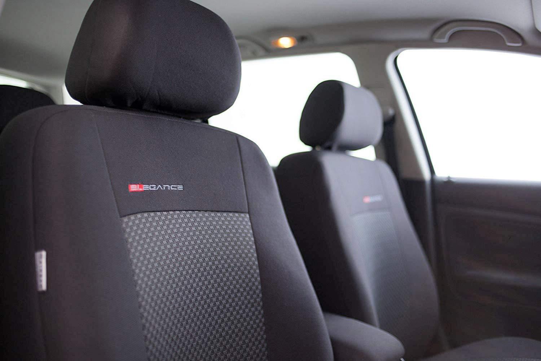Sitzbez/üge Auto universal Set Autositzbez/üge Schonbez/üge schwarz-grau Vordersitze und R/ücksitze mit Airbag Premium B