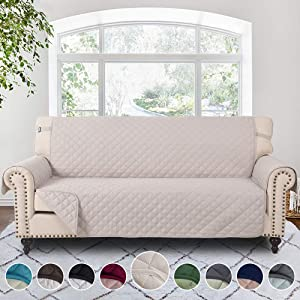 RHF Reversible Sofa Cover, Couch Covers for 3 Cushion Couch, Couch Covers for Sofa, Couch Cover, Sofa Covers for Living Room,Couch Covers for Dogs, Sofa Slipcover(Sofa:Light Taupe/Light Taupe)
