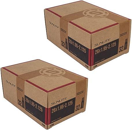 2-PACK Sunlite Mountain Bike Inner Tubes 26 x 1.50-1.95 Schrader Valve