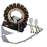 Kit Stator + Crankcase Cover Gasket for Suzuki LTA 400 Eiger 4x4 Auto 2002-2007 LTA400
