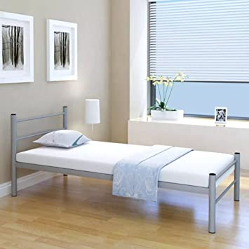 WEILANDEAL Estructura de Cama de Metal Gris 90x200 cm Camas Tamano Adecuado del colchon: 200
