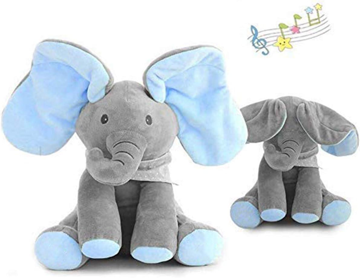 Uni-Wert Peek-A-Boo Elefante de Peluche Juguete Interactivo ...