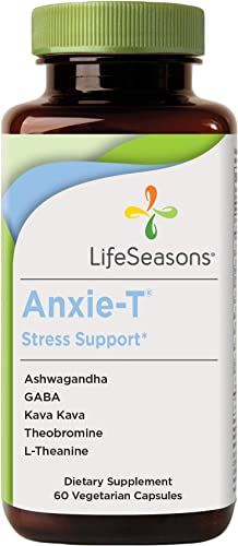 LifeSeasons – Anxie-T – Anti Anxiety Support Supplement to Combat Stress – Calm and Stress Supplement – Feel More Relaxed – Contains Kava Kava, GABA, L-Theanine – 60 Capsules