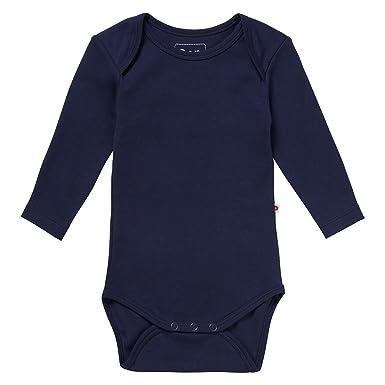 d034f88da719 Piccalilly Plain Navy Blue Long Sleeve Unisex Envelope Neck Baby ...