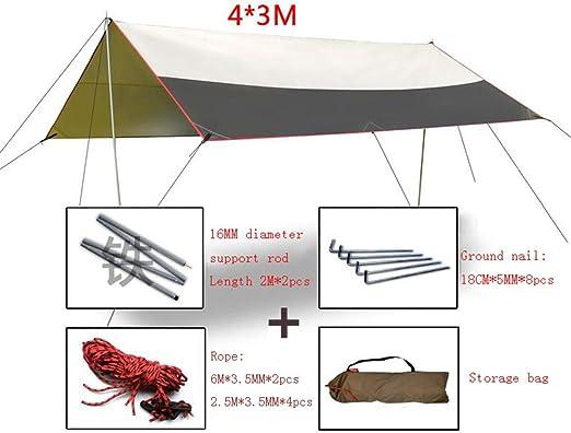 CAIJUN Velas De Sombra Toldo Playa Lona Carpas De Camping Al Aire Libre Pérgola Protector Solar