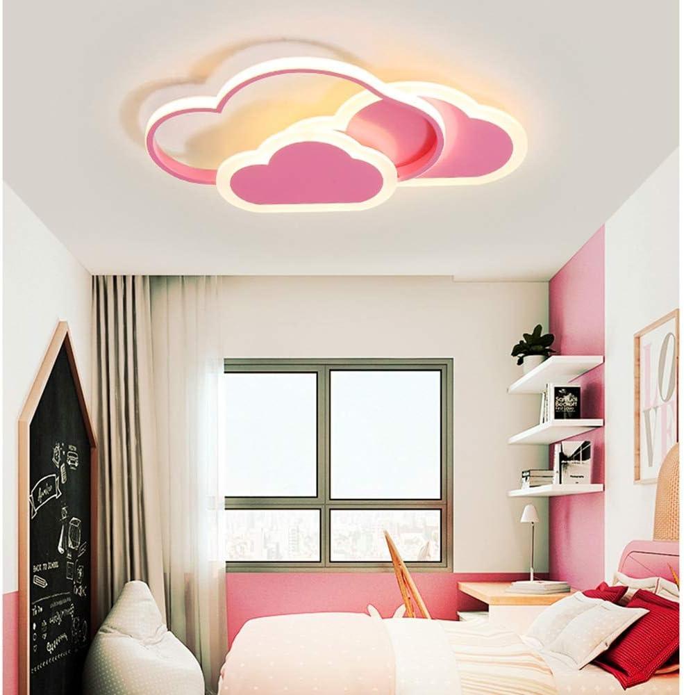 F/ür Kinderzimmer Schlafzimmer Und Wohnzimmer JDMYL 32W LED Deckenleuchte 3000K Warmes Licht Creative Cloud Deckenleuchte Energieklasse A ++ 6cm Ultrad/ünne Pink Wolken Decken Lampe
